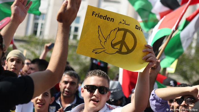 A protest in Essen, Germany, against the Israeli invasion of Gaza (Photo: Marcel Kusch/dpa)