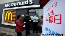 McDonald's restaurant in China (picture-alliance/dpa)