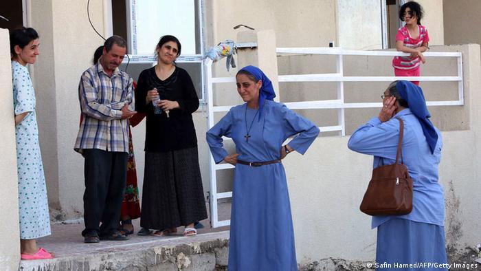 christliche Flüchtlinge aus Mosul