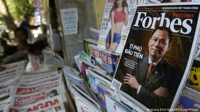Forbes Magazine in Vietnam (Hoang Dinh Nam/AFP/Getty Images)