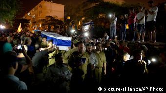 A soldier is buried in Tel Aviv