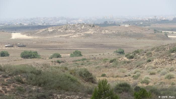 Israelische Panzer bei Beit Hanoun im Gazastreifen 22.07.2014
