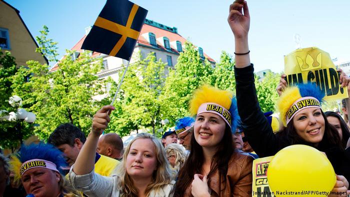 Symbolbild Schweden Jubel Freude (Jonathan Nackstrand/AFP/Getty Images)