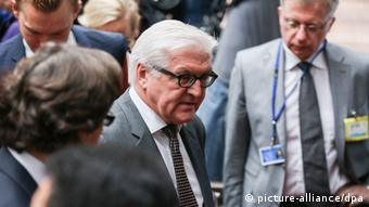 German Foreign Minister Frank-Walter Steinmeier, pictured in Brussels