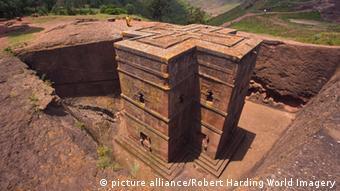 Bet Giyorgi Felsenkirche von Lalibela in Äthiopien