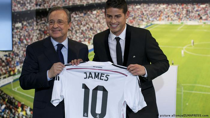 James Rodriguez Real Madrid Spieler