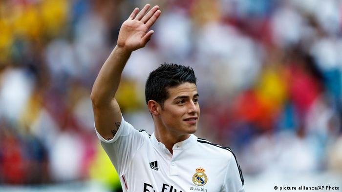 James Rodriguez Real Madrid Spieler (picture alliance/AP Photo)