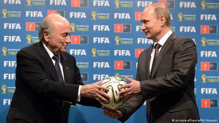 Blatter mit Putin 13.07.2014 in Rio
