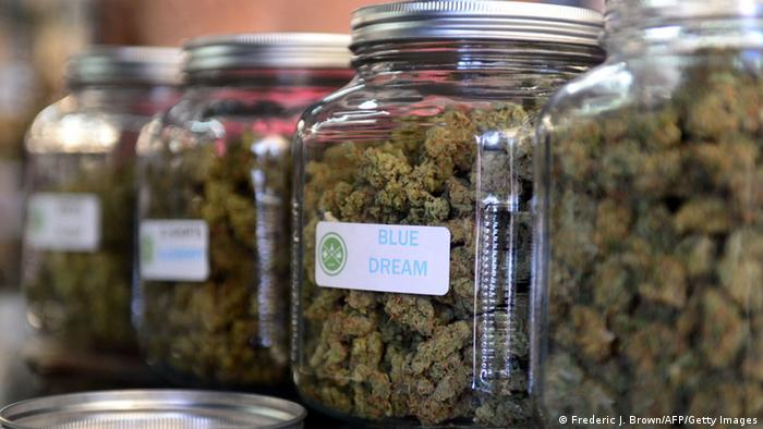 Cannabis in jars in a California dispensary (Frederic J. Brown/AFP/Getty Images)