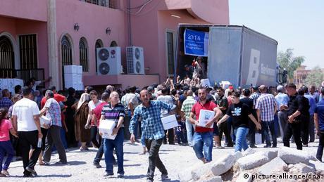 Irak christliche Flüchtlinge aus Mosul 20.07.2014