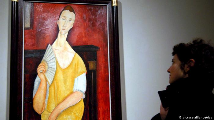 'The lady with the fan' by Italian artist Amedeo Modigliani (picture-alliance/dpa)