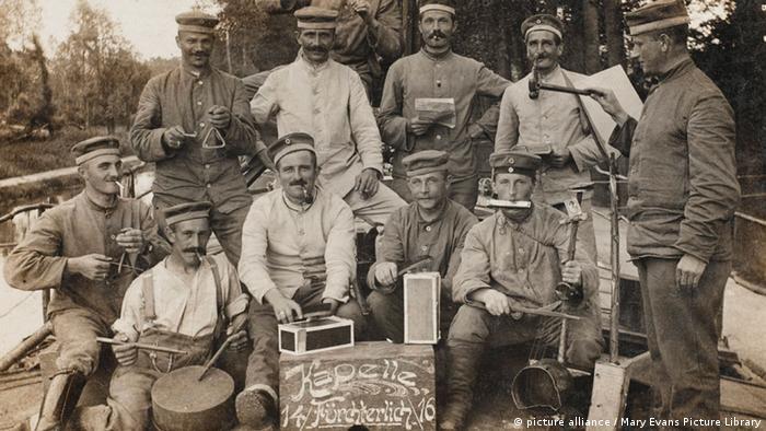 Военный оркестр времен Первой мировой