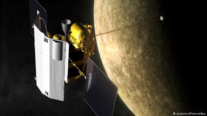 The Messenger probe near Mercury