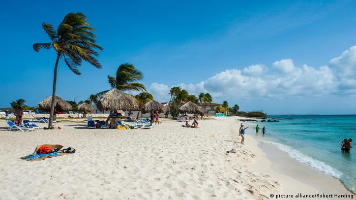 Aruba Strand Palmen (picture alliance/Robert Harding)