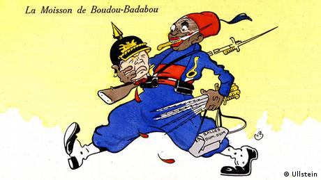 Karikatur Erster Weltkrieg Kolonialtruppen