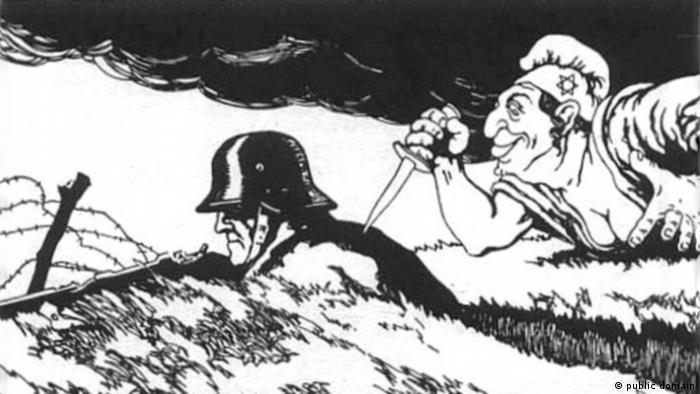 Karikatur Erster Weltkrieg Dolchstoßlegende