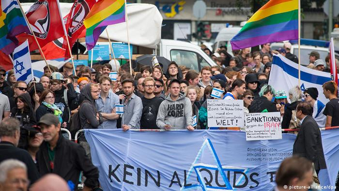 Al-Kuds Berlin Pro-Israel Demonstration (Foto: dpa)