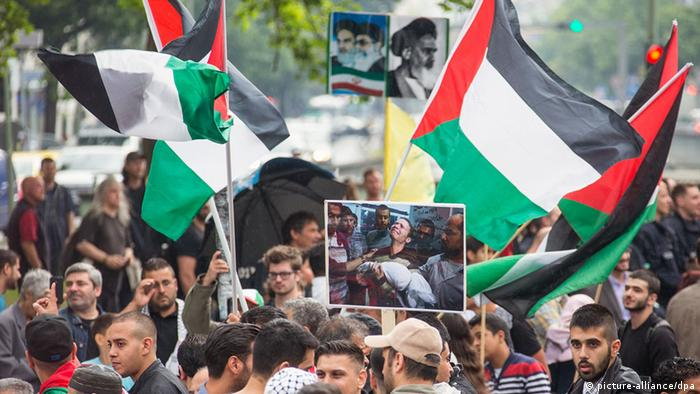 Berlin Anti Israel Demo Al-Kuds (Foto: dpa)