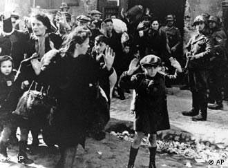 Jews are rounded up by the Nazis in Warsaw in 1943