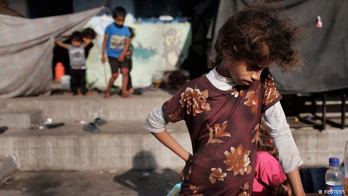 Kinder im Flüchlingslager Dschabaliya in Gaza (Foto: Reuters)