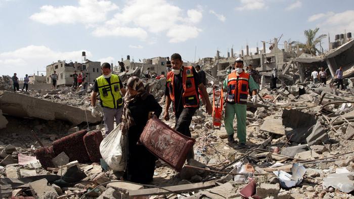 Waffenruhe bringt Zerstörung im Gazastreifen zum Vorschein 26.07.2014
