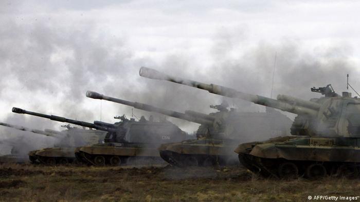 Учения российских войск в апреле 2014 года, фото из архива