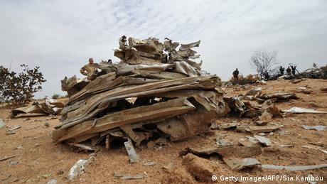 Air-Algerie Wrack in Mali Absturzstelle 26.07.2014