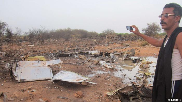 Air-Algerie Wrack in Mali Absturzstelle 24.07.2014