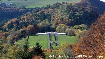 A picture of the war cemetery in Alsace.