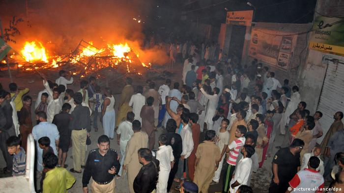 Pakistan Anschlag in Gujranwala (picture-alliance/dpa)