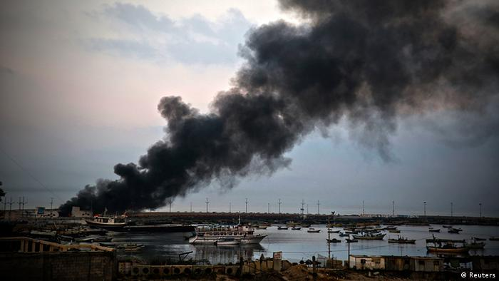 Gaza Hafen Bombardierung Israel Explosion 29.7.