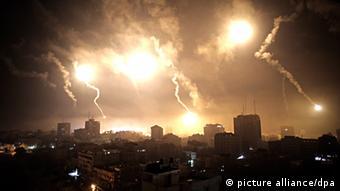 Gaza Bombardierung Israel Raketen