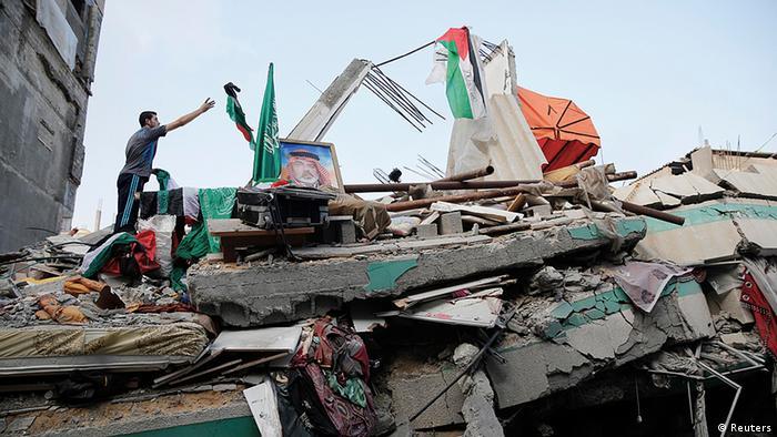 Das zerstörte Haus von Hamas-Führer Ismail Haniyeh (Foto: Reuters)