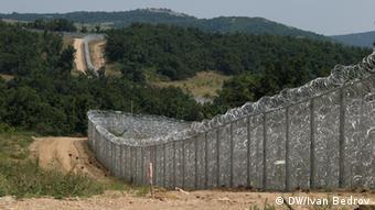 Grenzzaun zur Türkei (Foto: Ivan Bedrov/DW)
