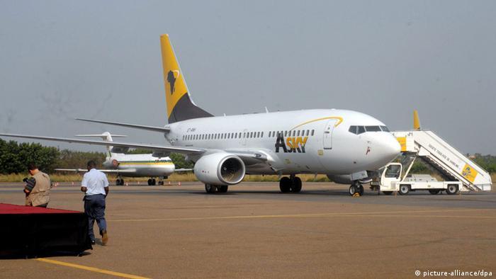 Flugzeug der Airline ASky