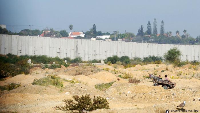 Mauer zwischen Israel und dem Gazastreifen (Foto: picture-alliance/dpa)