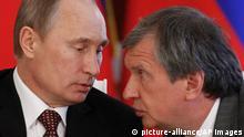 Russland Sanktionen Waldimir Putin und Igor Setschin