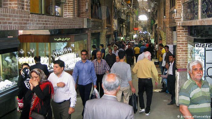 A bazar in Tehran
