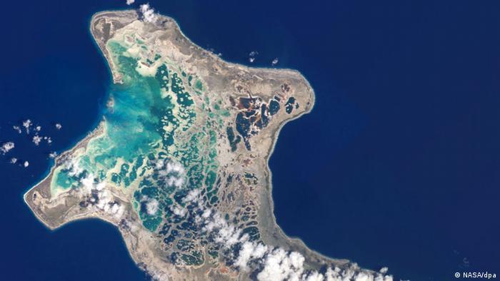 Earth observation satellite image of Kiribati