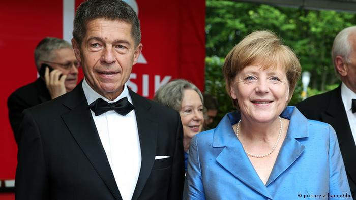 Angela Merkel and Joachim Sauer at the Bayreuth Festival 2014, Copyright: picture-alliance/dpa