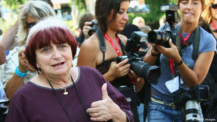 Agnes Varda at the 2008 Venice Film Festival (Getty Images)