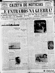 Titelseite der Zeitung Gazeta de Notícias am 26.10.1917