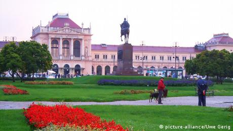 A picture of Zagreb main station in Croatia.