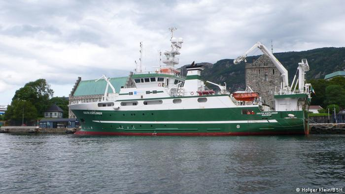 Die Celtic Explorer sticht in See