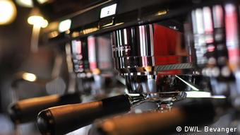 Picture of a coffee machine at the barista championships in Norway