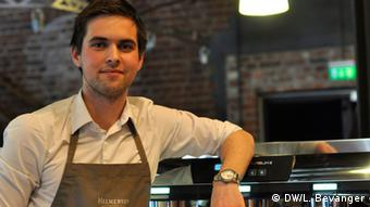 Marius Graff is a competitor at the barista competition in Norway.