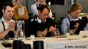 Judges at the Norwegian barista championships in Norway.