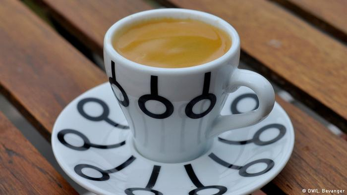 A picture of a cup of espresso in Norway