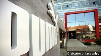 Логотип компании Puma перед ее штаб-квартирой в Херцогенаурахе