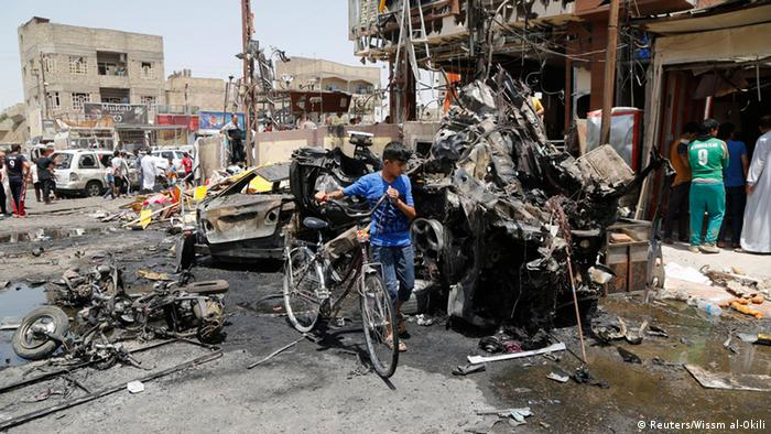 Autobombe in Bagdad, 1.08.2014 (Foto: Reuters)